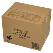 "Crownhill 16"" x 13"" x 13"" Shipping Boxes, Brown, 10/Pack"