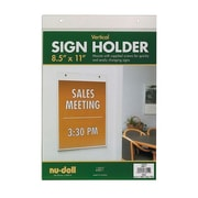"Nu-Dell 8-1/2"" x 11"" Vertical Acrylic Wall Sign Holder"