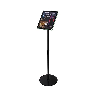 Deflecto® Telescoping Sign Holders, Black