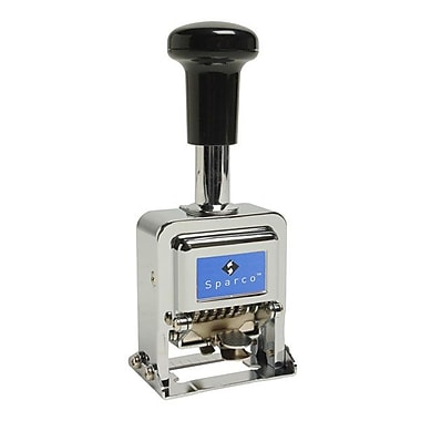 Sparco™ 6-Wheel Automatic Numbering Self-Inking Stamp
