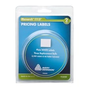 Monarch® 1115/Alpha 2-Line Pricemarker Labels, White, 4,500 Labels/Pack