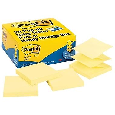 Post-itMD – Feuillets éclair, format économique, original, 3 x 3 po, jaune, 24/paquet