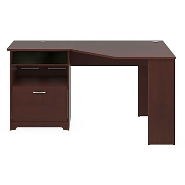 Bush® – Bureau en coin de la collection Cabot, fini cerisier des vendanges