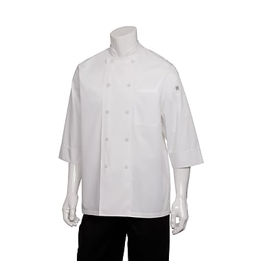 Chef Works® Basic 3/4 Sleeve Chef Coat, White, Large
