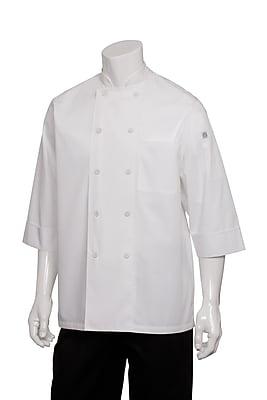 Chef Works® Basic 3/4 Sleeve Chef Coat, White, XL