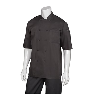Chef Works® Montreal Cool Vented Short Sleeve Basic Chef Coat, Black, XL