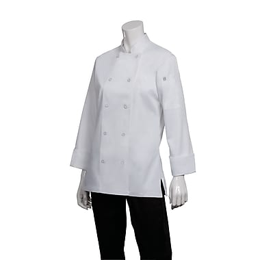 Chef Works® Marbella Long Sleeve Women's Executive Chef Coat, White, Medium