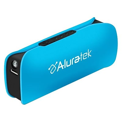 Aluratek Portable Smartphone Battery Charger With LED Flashlight, Sky Blue IM1TH6311