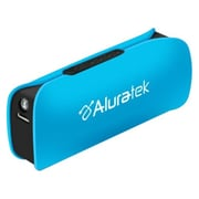Aluratek Portable Smartphone Battery Charger With LED Flashlight, Sky Blue