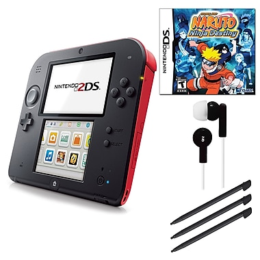 Nintendo® 2DS Bundle W/ Game and Accessories, Red