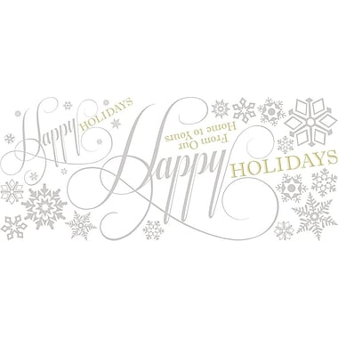 RoomMates® Happy Holidays Quote Peel and Stick Giant Wall Decal, 18