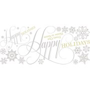 "RoomMates® Happy Holidays Quote Peel and Stick Giant Wall Decal, 18"" x 40"""