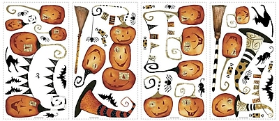 RoomMates® Halloween Pumpkins Peel and Stick Wall Decal, 10