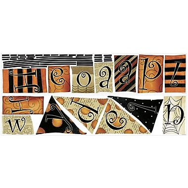 RoomMates® Happy Halloween Pennants Peel and Stick Wall Decal, 9