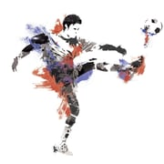 """RoomMates® Men's Soccer Champion Peel and Stick Giant Wall Decal, 18"""" x 40"""""""