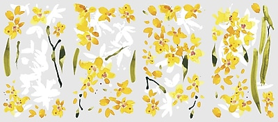 RoomMates® Yellow Flower Arrangement Peel and Stick Wall Decal, 18
