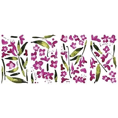 RoomMates® Fuchsia Flower Arrangement Peel and Stick Wall Decal, 18