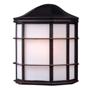 "Kenroy Home 10"" x 8"" 1 Light Alcove Outdoor Wall Lantern, Oil Rubbed Bronze"