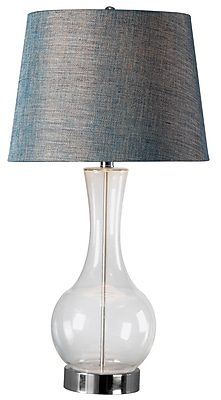 Kenroy Decanter Table Lamp w/ Clear Glass Finish & 15