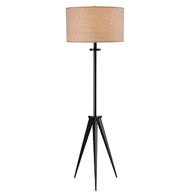 Kenroy Home 150 W 1 Light Foster Floor Lamp, Oil Rubbed Bronze