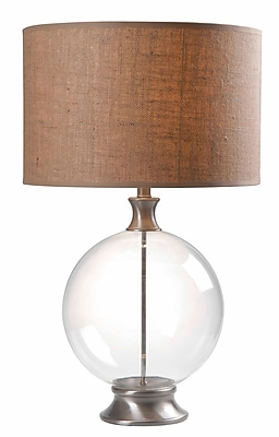 Kenroy Home Constellation Table Lamp, Glass With Brushed Steel