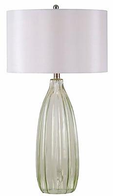 Kenroy Home Elaine Table Lamp, Green Glass