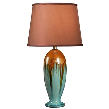 Kenroy Home Tucson Table Lamp, Teal Ceramic