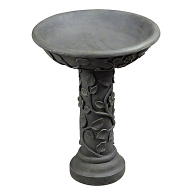 Kenroy Home Vine Outdoor Bird Bath, Bronze Patina Finish