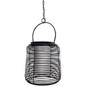 "Kenroy Home Foundry 19"" x 17"" 1 Light Outdoor Pendant, Black"