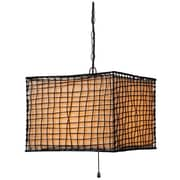 "Kenroy Home Trellis Outdoor 16"" x 16"" 1 Light Outdoor Pendant W/Cream Shades, Bronze"