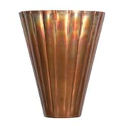 "Kenroy Home 12"" x 5"" Flute 1 Light Wall Sconce, Flamed Copper"