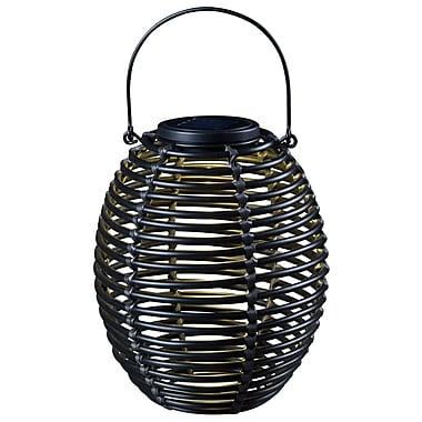 Kenroy Home 1 Light LED Coil Solar Lantern, Rattan
