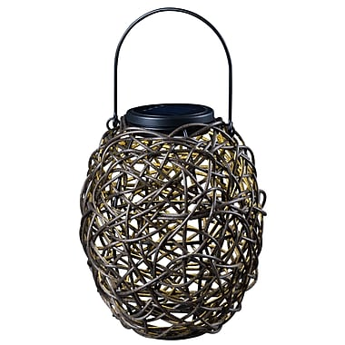 Kenroy Home 1 Light LED Tangle Solar Lantern, Mixed Rattan