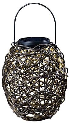 Kenroy Home 1 Light LED Tangle Solar Lantern, Mixed Rattan