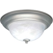 "Aurora® 6"" x 14"" 75 W 2 Light Flush Mounts W/Marble Glass Shade"