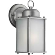 """Aurora® 9 1/2"""" x 4 1/2"""" 13 W 1 Light Outdoor Lanterns W/Frosted Seeded Glass Shade"""