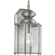 "Aurora® 13"" x 7"" 100 W 1 Light Outdoor Lantern W/Clear Beveled Glass Shade, Olde Nickel"