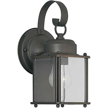 Aurora® 1 Light Outdoor Lantern W/Clear Beveled Glass Shade, Royal Bronze