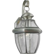 "Aurora® 14"" x 8"" 100 W 1 Light Outdoor Lanterns W/Clear Beveled Glass Shade"