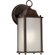"Aurora® 10 1/2"" x 4 1/2"" 13 W1 Light Outdoor Lanterns W/Satin White Glass Shade"