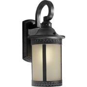 "Aurora® 16 1/4"" x 7 1/2"" 26 W 1 Light Outdoor Lantern W/Umber Seeded Glass Shade, Bordeaux"