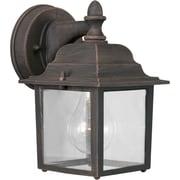 Aurora® 1 Light Outdoor Lantern W/Clear Glass Shade, Painted Rust