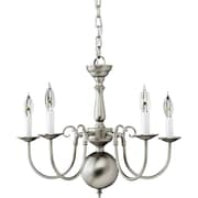 "Aurora® 17 1/2"" x 23"" 60 W 5 Light Chandelier Brushed Nickel"
