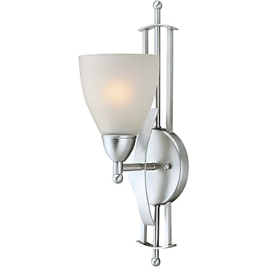 Aurora® 1 Light Wall Sconce With Satin Opal Glass Shade, Brushed Nickel