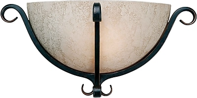 Aurora® 1 Light Wall Sconce With Tapioca Glass Shade, Bordeaux