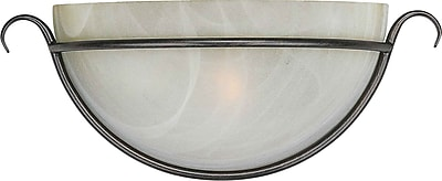 Aurora® 1 Light Wall Sconce With Umber Cloud Glass Shade, Bordeaux