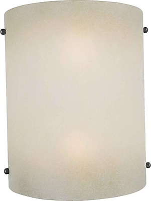 Aurora® 2 Light Wall Sconce With Shaded Umber Glass Shade, Brushed Nickel