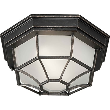 Aurora® 18 W 1 Light Flush Mount W/Satin White Glass Shade, Bordeaux