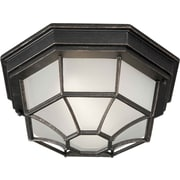 Aurora® 18 W 1 Light Flush Mount W/Satin White Glass Shade, Bordeaux
