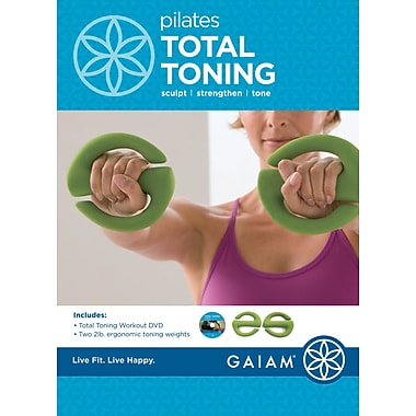 GaiamMD – Trousse de Pilates Total Toning Kit avec DVD